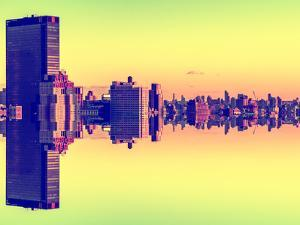 Double Sided Series - Cityscape of Manhattan by Philippe Hugonnard
