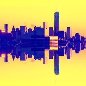 Double Sided Series - NYC Cityscape with the One World Trade Center (1WTC) by Philippe Hugonnard