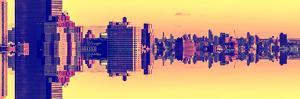Double Sided Series - Panoramic Cityscape of Manhattan by Philippe Hugonnard
