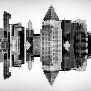Double Sided Series - Skyscrapers of Times Square in Manhattan by Philippe Hugonnard