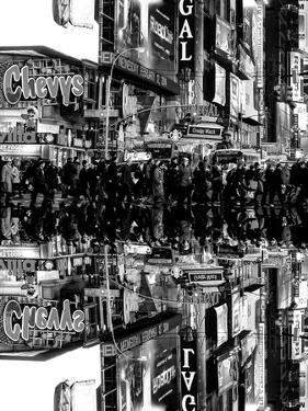 Double Sided Series - Times Square Urban Scene by Night - Manhattan - New York by Philippe Hugonnard