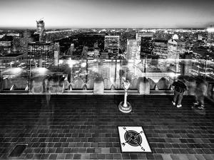 Downtown at Night, Top of the Rock Oberservation Deck, Rockefeller Center, New York City by Philippe Hugonnard