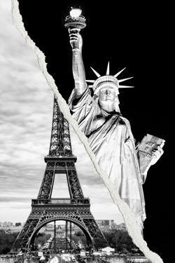 Dual Torn Posters Series - Paris - New York by Philippe Hugonnard