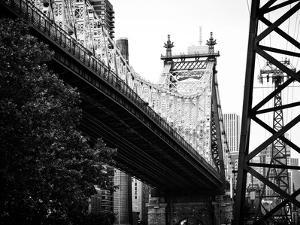 Ed Koch Queensboro Bridge (Queensbridge) View, Manhattan, New York, Black and White Photography by Philippe Hugonnard