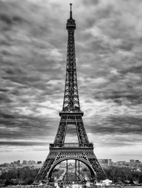 Eiffel Tower, Paris, France - Black and White Photography by Philippe Hugonnard