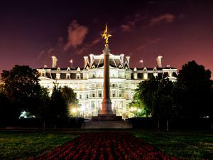 Eisenhower Executive Office Building (Eeob) by Night, West of the White House, Washington D.C, US by Philippe Hugonnard