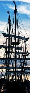 """""""El Galeon"""" at Sunset, Authentic Replica of 17th Century Spanish Galleon, Pier 84, New York by Philippe Hugonnard"""