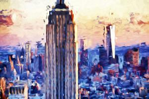 Empire Center - In the Style of Oil Painting by Philippe Hugonnard