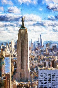 Empire Skyline - In the Style of Oil Painting by Philippe Hugonnard