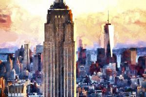 Empire State & 1 World Trade by Philippe Hugonnard