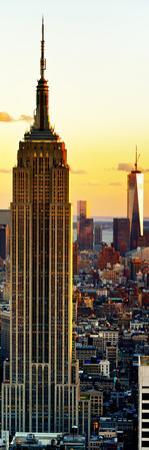 Empire State Building and One World Trade Center at Sunset, Midtown Manhattan, New York City by Philippe Hugonnard