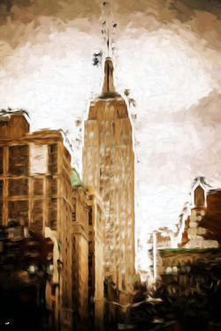 Empire State Building - In the Style of Oil Painting by Philippe Hugonnard