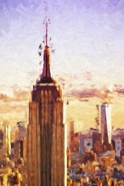 Empire State Sunset II - In the Style of Oil Painting by Philippe Hugonnard