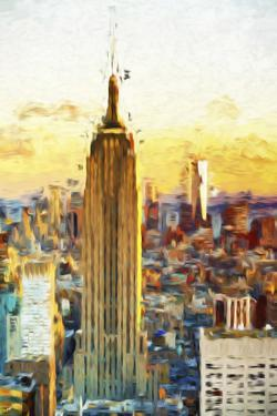 Empire State Sunset III - In the Style of Oil Painting by Philippe Hugonnard
