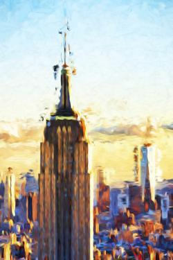 Empire State Sunset - In the Style of Oil Painting by Philippe Hugonnard