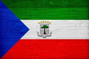 Equatorial Guinea Flag Design with Wood Patterning - Flags of the World Series by Philippe Hugonnard