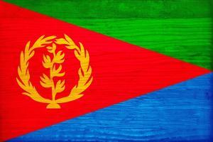 Eritrea Flag Design with Wood Patterning - Flags of the World Series by Philippe Hugonnard
