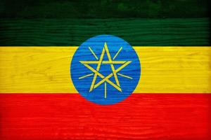 Ethiopia Flag Design with Wood Patterning - Flags of the World Series by Philippe Hugonnard