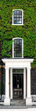 Facade of an English House with Ivy Leaves - Mallinson House in St Albans - UK - Door Poster by Philippe Hugonnard