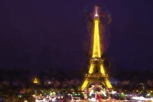 Famous Eiffel Tower by Philippe Hugonnard