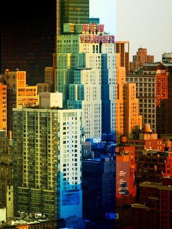 Fine Art, White Frame, Full Size Photography, the New Yorker Hotel, Midtown Manhattan, NYC, US