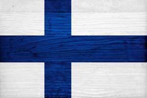 Finland Flag Design with Wood Patterning - Flags of the World Series by Philippe Hugonnard