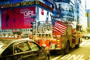 Fire truck - Times Square - Manhattan - New York City - United States by Philippe Hugonnard