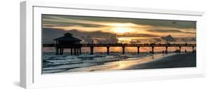 Fishing Pier Fort Myers Beach at Sunset by Philippe Hugonnard