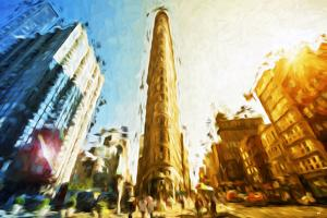 Flatiron Building II - In the Style of Oil Painting by Philippe Hugonnard