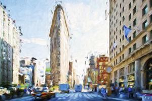 Flatiron Building III - In the Style of Oil Painting by Philippe Hugonnard