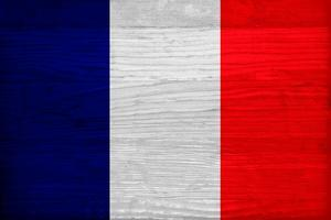 France Flag Design with Wood Patterning - Flags of the World Series by Philippe Hugonnard