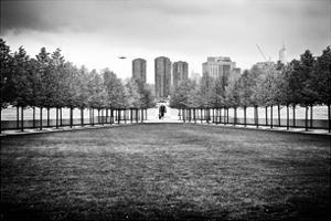Franklin D. Roosevelt (Fdr) Four Freedoms Park, Roosevelt Island, Manhattan, New York, White Frame by Philippe Hugonnard