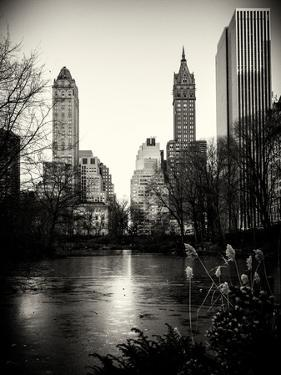 "Frozen Lake ""The Pond"" in Central Park with 5th Avenue Buildings by Philippe Hugonnard"