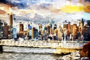 Gateway to New York - In the Style of Oil Painting by Philippe Hugonnard