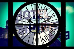 Giant Clock Window - View of Hotel Empire Sign - New York City II by Philippe Hugonnard
