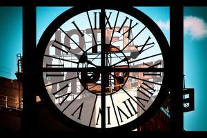 Giant Clock Window - View of Hotel Empire Sign - New York City by Philippe Hugonnard