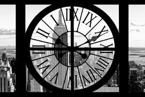 Giant Clock Window - View of New York with the Empire State Building II by Philippe Hugonnard