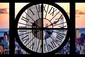 Giant Clock Window - View of the Empire State Building and One World Trade Center by Philippe Hugonnard