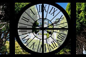 Giant Clock Window - View of the Streets of San Francisco by Philippe Hugonnard