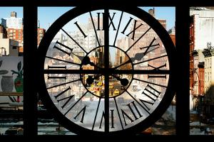 Giant Clock Window - View on the 10th Avenue - Manhattan by Philippe Hugonnard