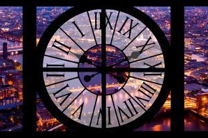 Giant Clock Window - View on the City of London by Night V by Philippe Hugonnard