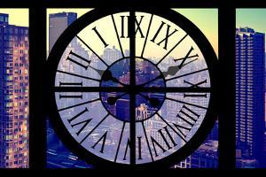 Giant Clock Window - View on the New York City - Midtown Manhattan by Philippe Hugonnard