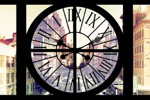 Giant Clock Window - View on the Streets of Manhattan in Winter II by Philippe Hugonnard