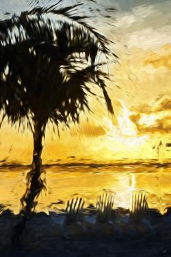 Golden Sky II - In the Style of Oil Painting by Philippe Hugonnard