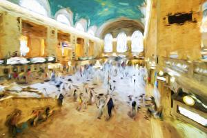 Grand Central Terminal II - In the Style of Oil Painting by Philippe Hugonnard
