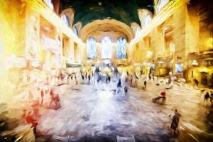 Grand central Terminal - In the Style of Oil Painting by Philippe Hugonnard