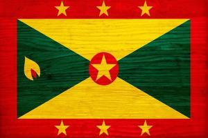 Grenada Flag Design with Wood Patterning - Flags of the World Series by Philippe Hugonnard