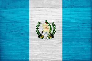 Guatemala Flag Design with Wood Patterning - Flags of the World Series by Philippe Hugonnard