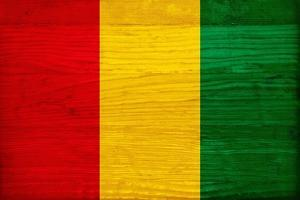 Guinea Flag Design with Wood Patterning - Flags of the World Series by Philippe Hugonnard