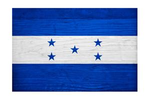 Honduras Flag Design with Wood Patterning - Flags of the World Series by Philippe Hugonnard